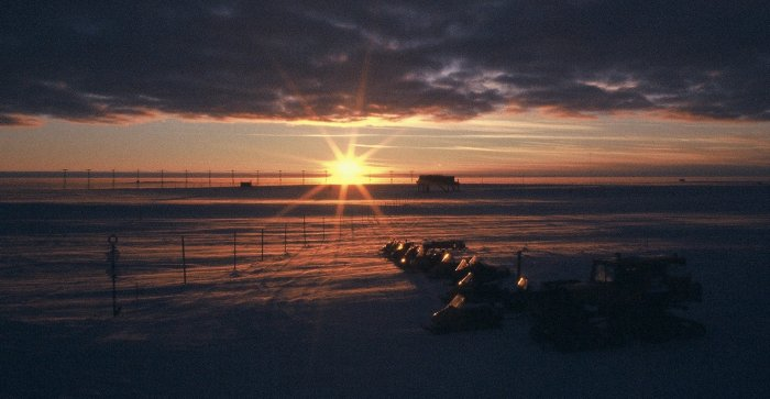 Sunset at Halley